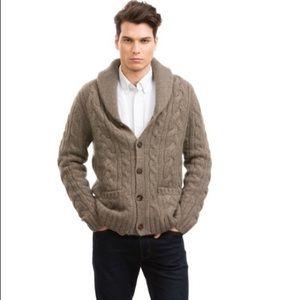 Jos. A Bank Cardigan Sweater Suede Elbows